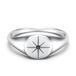Star Set Signet Ring