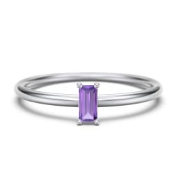Vertical Baguette Stackable Ring