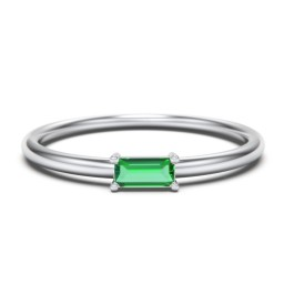 East-West Stackable Baguette Ring