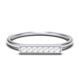 Gemstone Horizontal Bar Ring