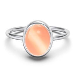 Oval Cab Gemstone Ring
