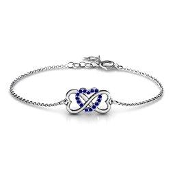 Triple Heart Infinity Bracelet