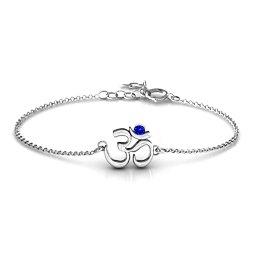 Om - Sound of Universe Bracelet with Round Stone