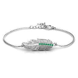 Feather with Accent Stones Bracelet