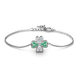 Four Leaf Heart Clover Bracelet