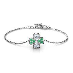 Four Leaf Heart Clover Bracelet