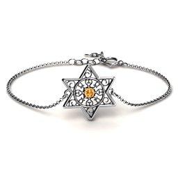 Star of David with Filigree Bracelet