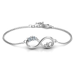 """Double the Love"" Infinity Armband"