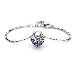 True Love's Lock Caged Bracelet