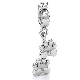 Engraved Kitty Prints Charm