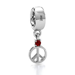 Peace with Birthstone Charm