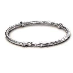 """7.5"""" Silver Snake Bracelet"""