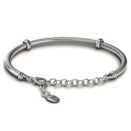 "7.5"" Silver Snake Bracelet with 1.5"" Extender"