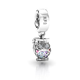 Scholarly Owl Caged Charm