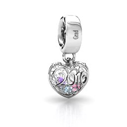 2016 Classic Heart Cage Charm