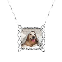 Square Infinity Photo Frame Necklace
