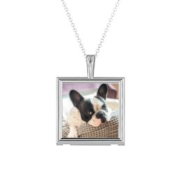 Classic Square Photo Frame Necklace