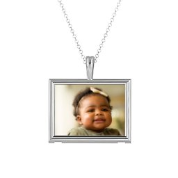 Classic Rectangular Photo Frame Necklace