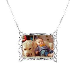 Rectangular Infinity Photo Frame Necklace