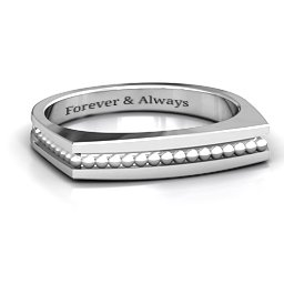 Fissure Beaded Groove Women's Ring