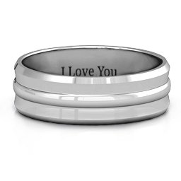 Forge Bevelled and Banded Men's Ring