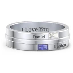 Baguette Men's Ring