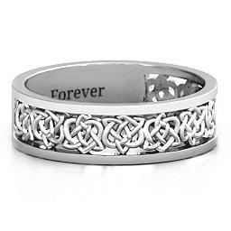 """Half Eternity"" Keltischer Ring"