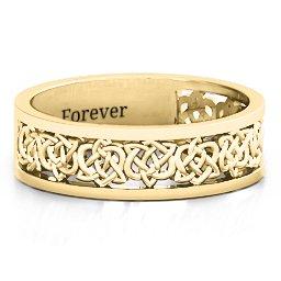 Half Eternity Celtic Ring