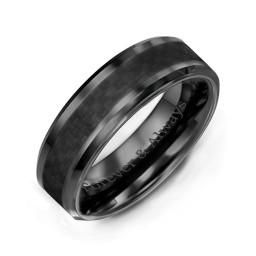 Men's Black Nightfall Ceramic Ring