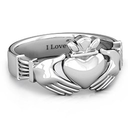 Men's Classic Celtic Claddagh Ring