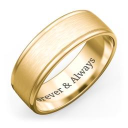 Men's Round Edge Wedding Band - 7mm Width