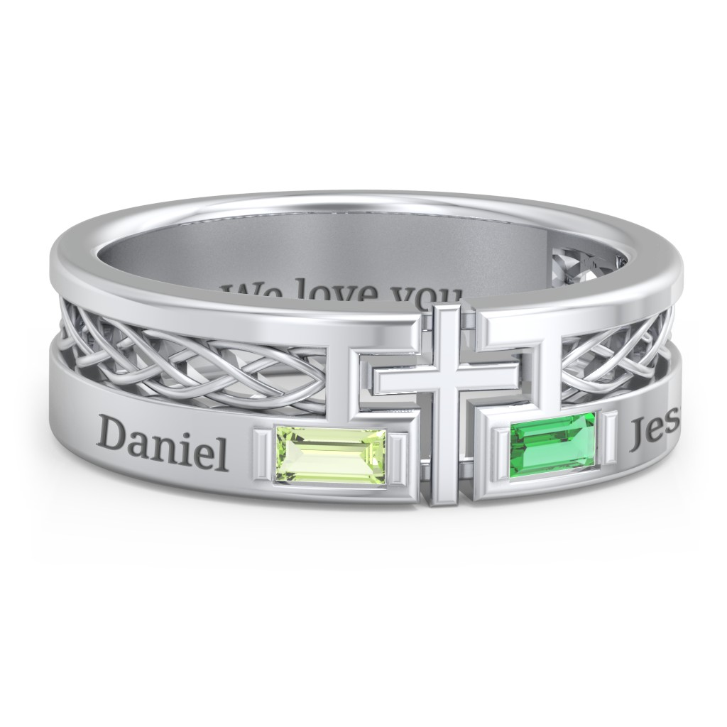 3232e8e5f88f1 Promise Rings - Personalized with Gemstones and Engravings | Jewlr