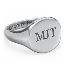 Men's Round Signet Ring