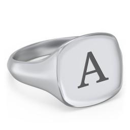 Men's Cushion Shaped Signet Ring