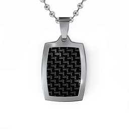 Houndstooth Dogtag Necklace