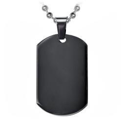 Onyx Dogtag Necklace