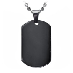Onyx Dogtag Necklace