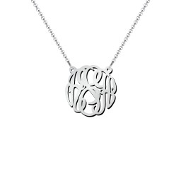 Monogram Name Pendant