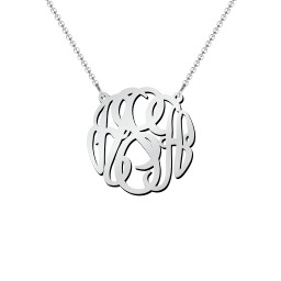 Small Monogram Name Pendant