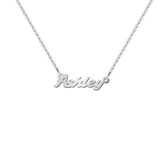 1ccbaf262 Sterling Silver Mini Personalized Name Necklace | Jewlr