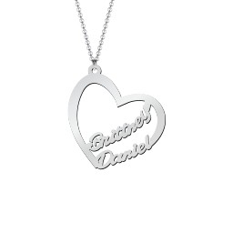 Written With Love Heart Name Necklace