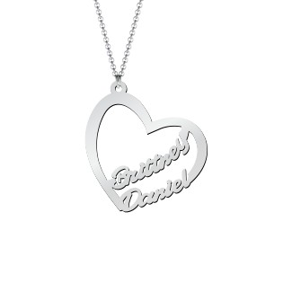 1c586fc035 Sterling Silver Written With Love Heart Name Necklace | Jewlr