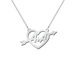 First Love Initial Heart Necklace