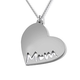 Marvelous Mom Engravable Heart Necklace