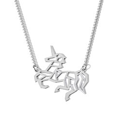 Unicorn Dreams Outline Cutout Necklace