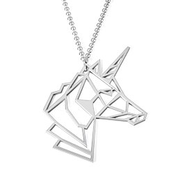 Unicorn Elegance Outline Cutout Necklace