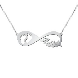 In My Footsteps Infinity Name Necklace