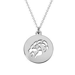 Capricorn Zodiac Cutout Disc Necklace