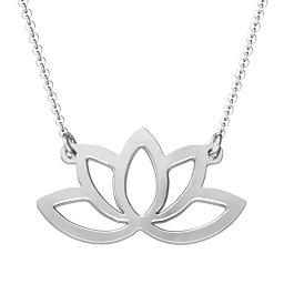 Luminous Lotus Cutout Necklace