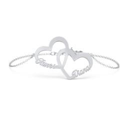 Interlocked in Love Name Bracelet